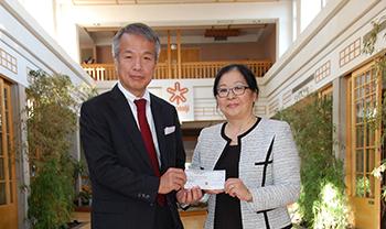 Mitsui Foundation Cheque Presentation